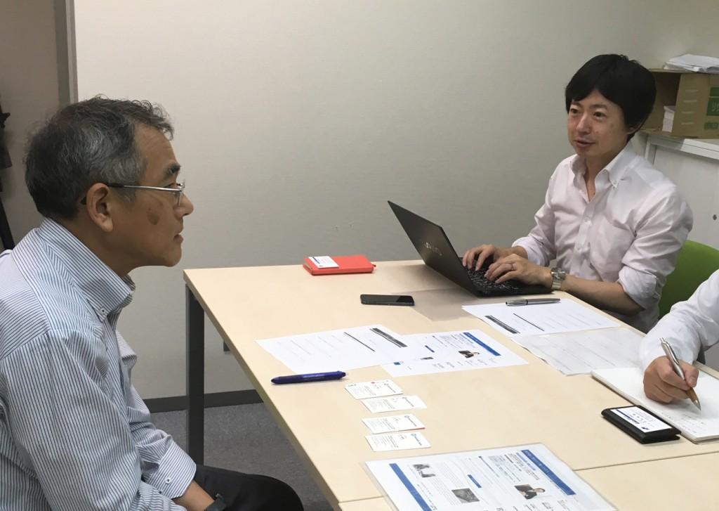 竹村先生とスキル委員:佐伯