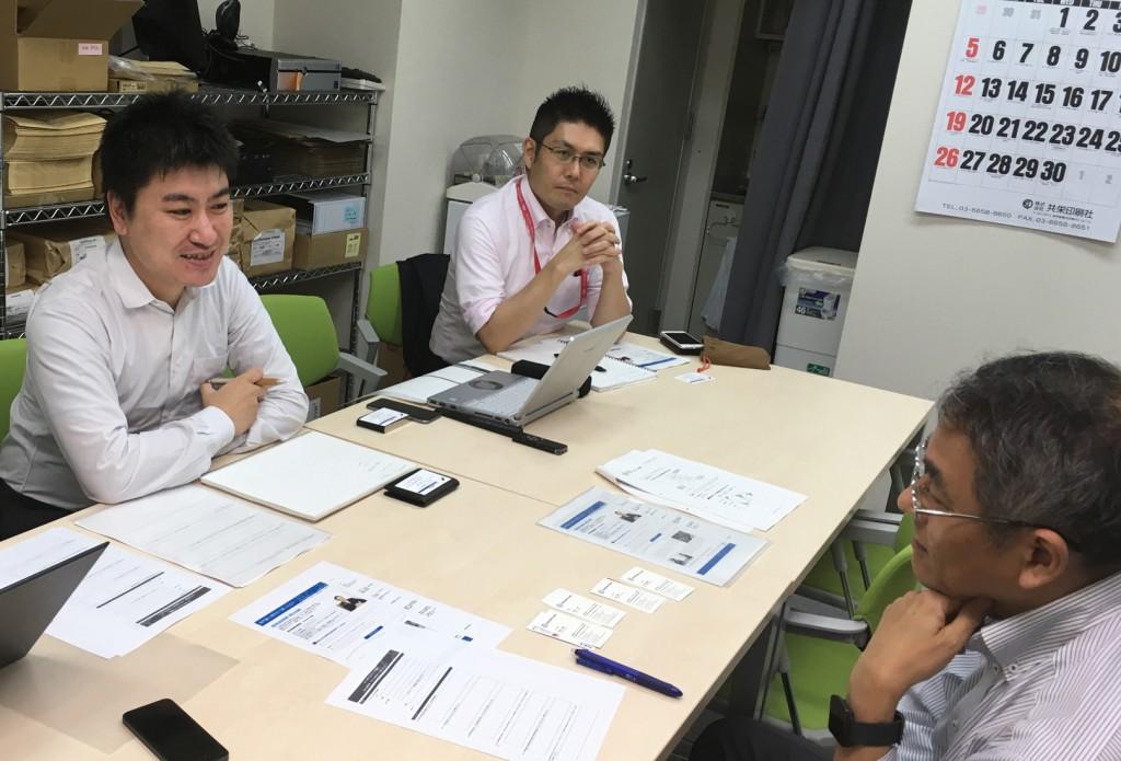 竹村先生とスキル委員 孝忠・田中